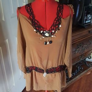 Bebe Silk Blouse